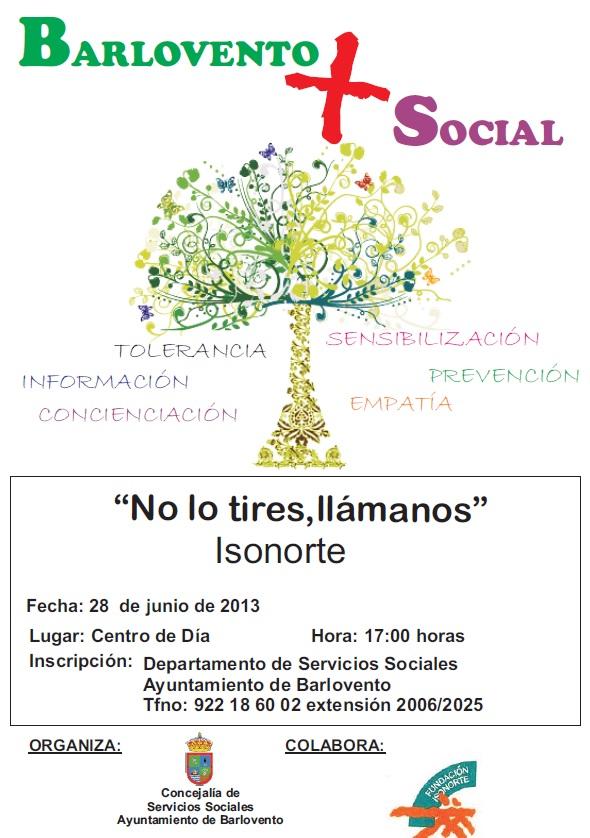 NUEVO TALLER DEL PROYECTO «BARLOVENTO + SOCIAL»: «NO LO TIRES, LLÁMANOS».