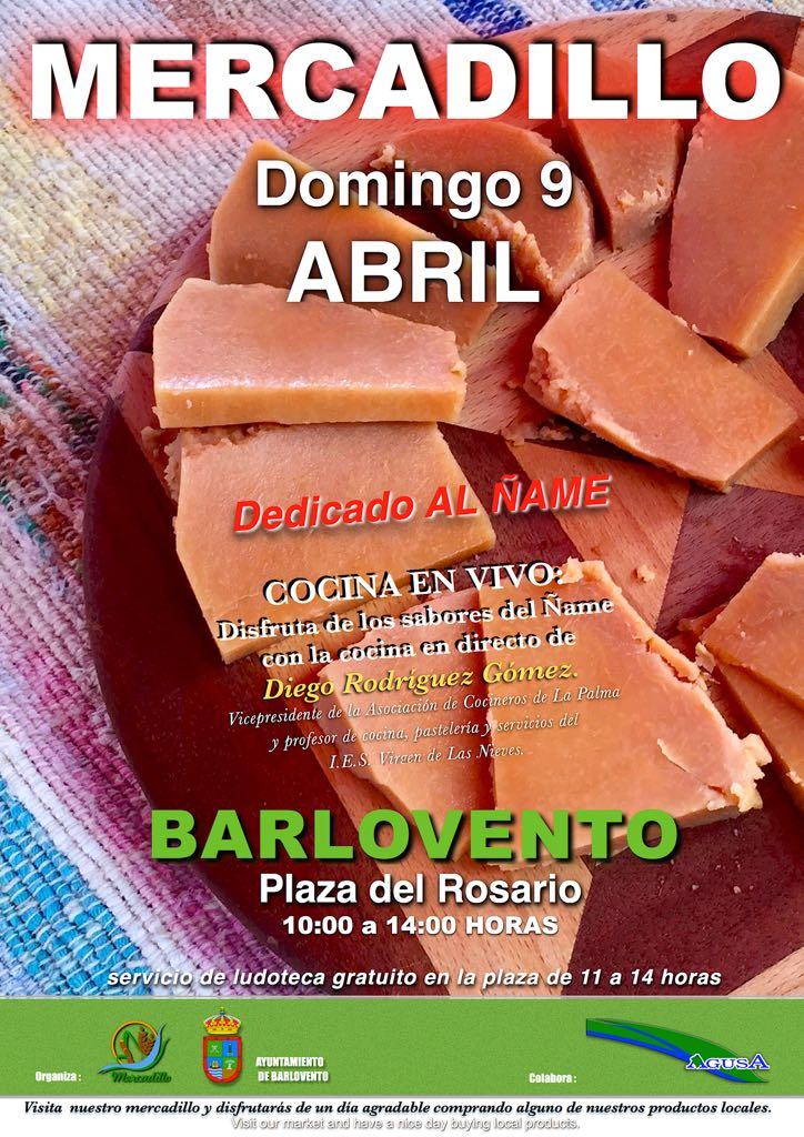 Mercadillo de Abril en Barlovento – Dedicado al Ñame