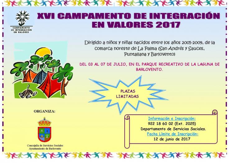 XVI Campamento de Integración en Valores 2017