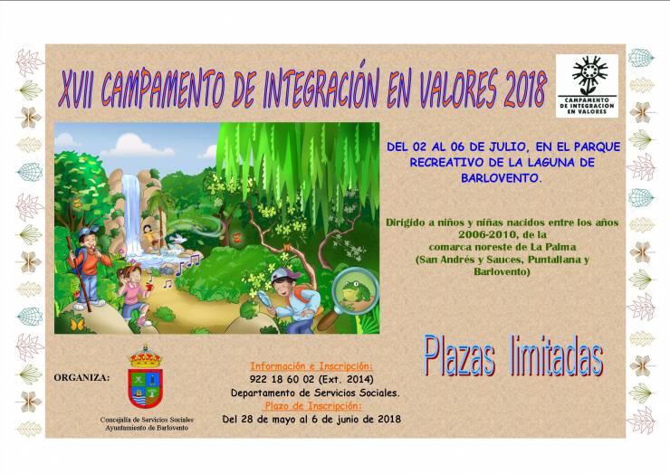 XVII CAMPAMENTO DE INTEGRACIÓN EN VALORES 2018