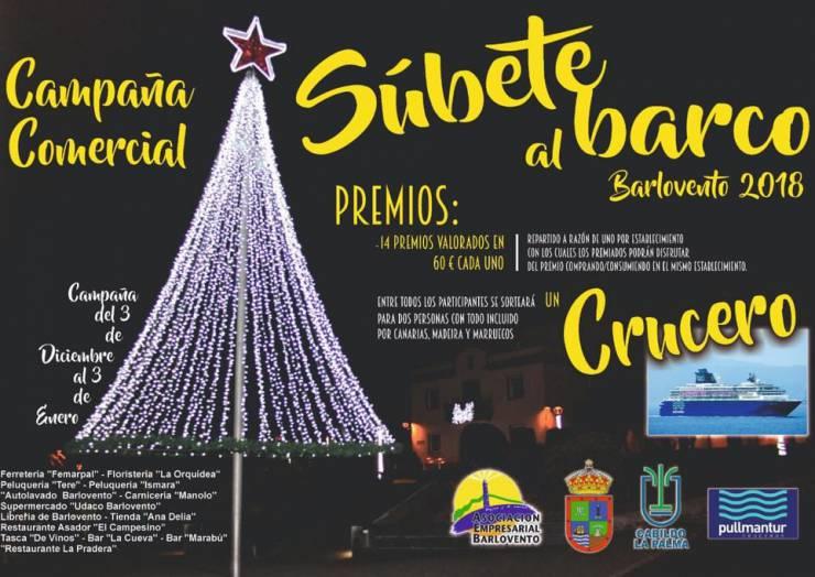 """Bajo el título """"Súbete al Barco"""" arranca la campaña comercial de Navidad en Barlovento"""