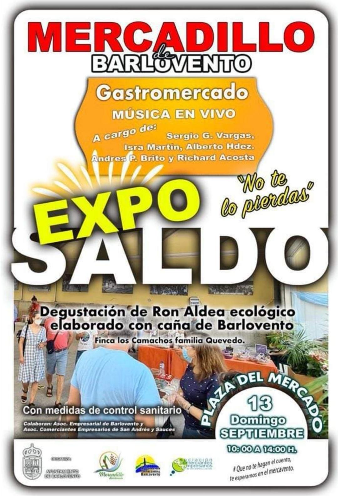 El Mercadillo Agrícola y Artesano de Barlovento contará con un Exposaldo con comercios de Barlovento y San Andrés y Sauces.